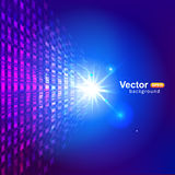 Virtual technology background. Virtual technology and vector background Royalty Free Stock Images
