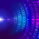 Virtual technology background. Virtual technology  and vector background Royalty Free Stock Photography