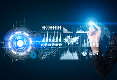 Virtual technology concept Stock Photos