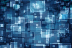Virtual technology space  background. Virtual technology space rectangle  background from light to dark blue Stock Images