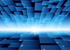 Virtual technology blue color background Royalty Free Stock Photos