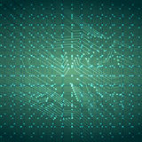 Virtual Technology Wire Circuit Board Background with Lights. Vector Illustration Royalty Free Stock Photos