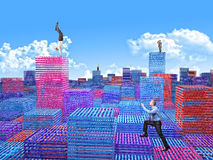 Virtual town Stock Images