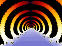 Virtual tunnel throught time. Virtual tunnel generated by computer Stock Images