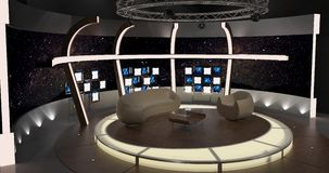 Virtual Tv Chat Set 20.  Royalty Free Stock Photography