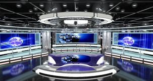 Virtual Tv News Set 1. 