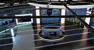 Virtual Tv News Set 27. Virtual sets that are required for any modern show for TV channels Royalty Free Stock Photo