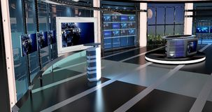 Virtual Tv News Set 27. Virtual sets that are required for any modern show for TV channels Royalty Free Stock Photos