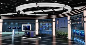 Virtual Tv News Set 27. Virtual sets that are required for any modern show for TV channels Royalty Free Stock Image