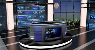 Virtual Tv News Set 27. Virtual sets that are required for any modern show for TV channels Stock Photo