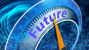Virtual vision of the future concept Stock Image