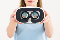 Virtual vr glasses goggles headset concepts Royalty Free Stock Photography