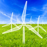 Virtual wind turbines Royalty Free Stock Images