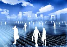 Virtual world of internet business Royalty Free Stock Image