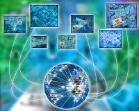Virtual world Stock Photography