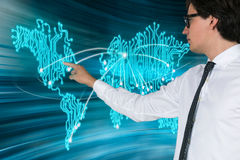 Virtual world map Stock Photo