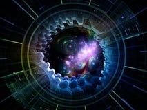 Virtualisatie van Ruimtezender Stock Foto