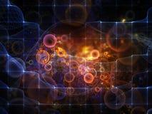 Virtualización del espacio Foto de archivo