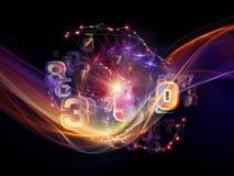 Virtualization of Data Cloud Royalty Free Stock Photo