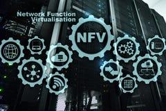 Virtualization f?r NFV-n?tverksfunktion Begrepp f?r faktiska maskiner f?r arkitekturteknologier stock illustrationer