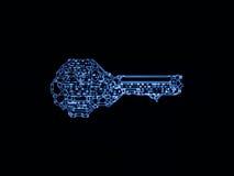 Virtualization of Key Code Royalty Free Stock Photos