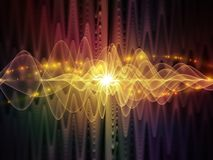 Virtualization Of Light Waves Royalty Free Stock Photo