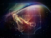 Virtualization of Space Royalty Free Stock Images