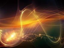 Virtualization of Waves Royalty Free Stock Image