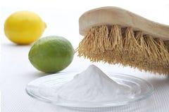 Virtudes de la limpieza del bicarbonato Foto de archivo libre de regalías