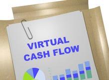 Virtueel Cash flowconcept Vector Illustratie