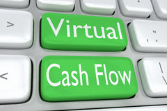 Virtueel Cash flowconcept stock illustratie