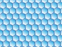 Virtueel Honingraatontwerp vector illustratie