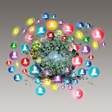 Virtueel pictogram van sociaal netwerk Royalty-vrije Stock Fotografie