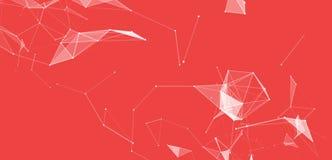Virtuele abstracte achtergrond met deeltje, moleculestructuur genetische en chemische samenstellingen creatief vector illustratie