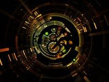 Virtuele Digitale Verwerking Stock Afbeelding
