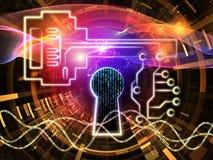 Virtuele Encryptie stock illustratie