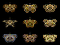 Virtuele Fractal Vlinders vector illustratie