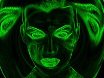 Virtuele gezichtsillustratie royalty-vrije illustratie