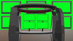 Virtuele HD-de Studioreeks van TV Stock Foto