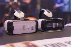 Virtuele hoofdtelefoons stock foto's