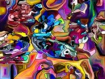 Virtuele Kleurenafdeling Royalty-vrije Stock Foto
