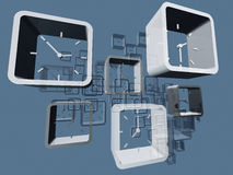 Virtuele klokken stock illustratie