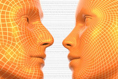 Virtuele Liefde stock illustratie