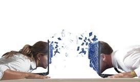 Virtuele liefde Royalty-vrije Stock Foto's