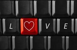 Virtuele liefde Stock Afbeelding