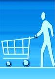Virtuele markt stock illustratie