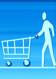 Virtuele markt Stock Foto's