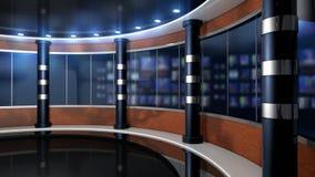 Virtuele studio vastgestelde pijlers stock videobeelden