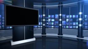 Virtuele studioupdate stock footage