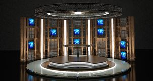 Virtuele TV-Praatjereeks 17 Royalty-vrije Stock Afbeelding